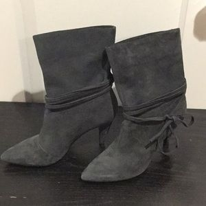 NWB Nine West gray suede boots Size 6-1/2
